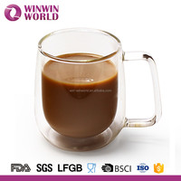 Borosilicate Glass Heat Resistant Double Wall Wholesale Coffee Mug