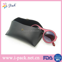 Latest high quality custom soft black PU sunglasses case/eyeglasses box