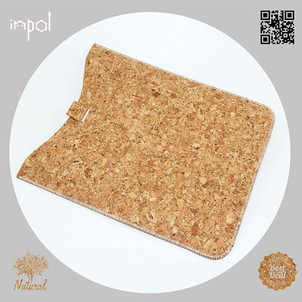 real cork unbreakable protective leather case for ipad mini