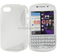 Colorful S line TPU Gel Case Cover For BlackBerry Q10