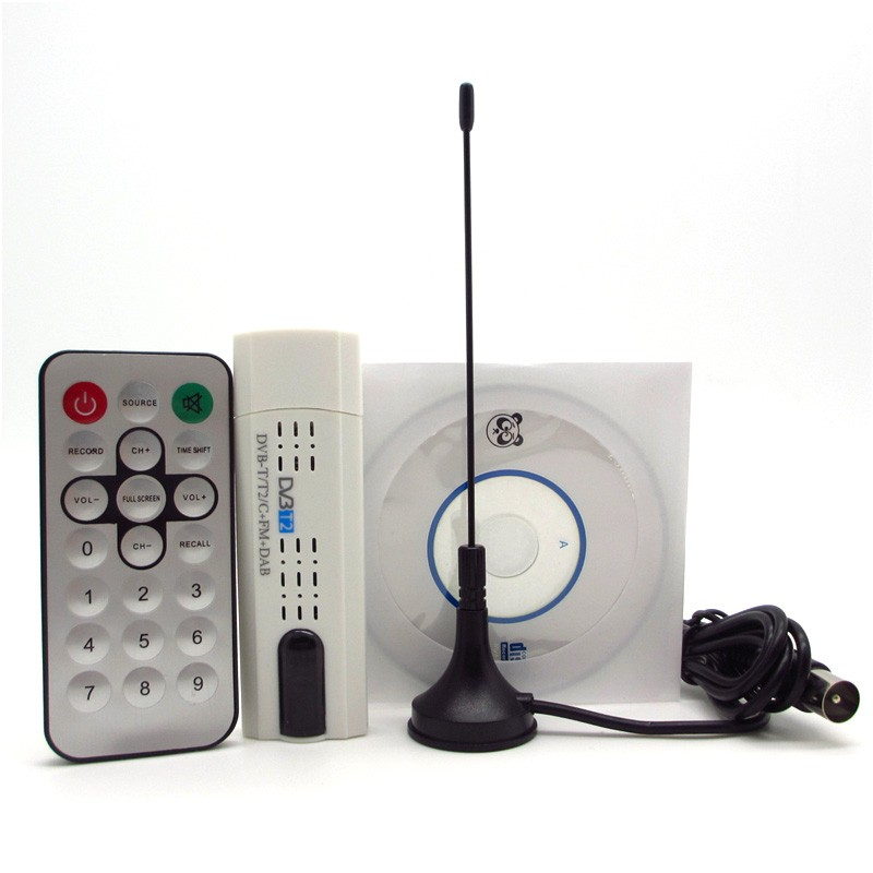 USB Digital <strong>Satellite</strong> DVB-T2 T DVB-C + FM + DAB+ SDR HDTV Stick Tuner <strong>Satellite</strong> Receiver with Antenna Remote for Russia/EU