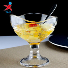 decorative dessert/ice cream glass cup for wholesale