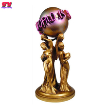 Famous metal cast sculpture bronze full size the world is yours statue for sale
