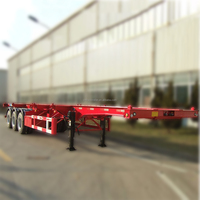 3 Axles Skeletal Semi Trailer 40ft