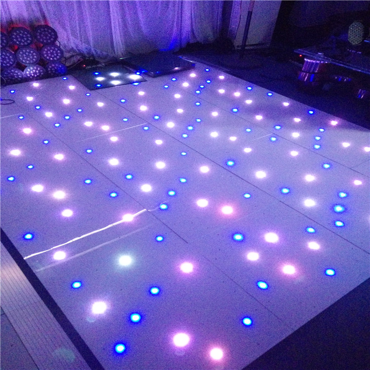White star light interactive make dmx led dance floor