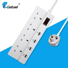 Alibaba UK Standard USB Power Socket Outlet with Surge Protector / Electric 4 Way Power Socket with USB Socket Strip with CE