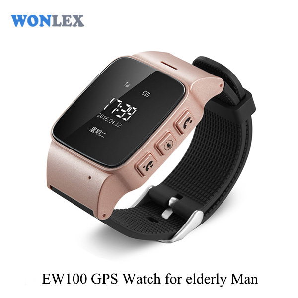 WONLEX Latest Design EW 100 SOS GPS Smart Watch Smart Baby Watch GPS Tracker