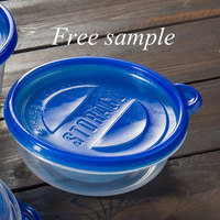 Eco-friendly Blue Lid Disposable Container Plastic Lunch Box