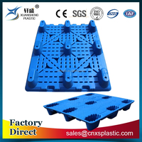 1200*1000*150mm nine legs blow molding heavy duty plastic pallet