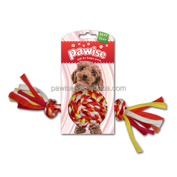Hot selling DOG TOY-Colorful Braided Rope Ball rope with various colors