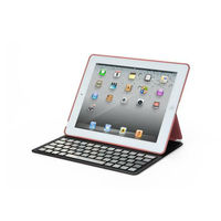 Removable Aluminium Ultra Thin Bluetooth Keyboard Leather Case Cover For Apple iPad 2 3 4