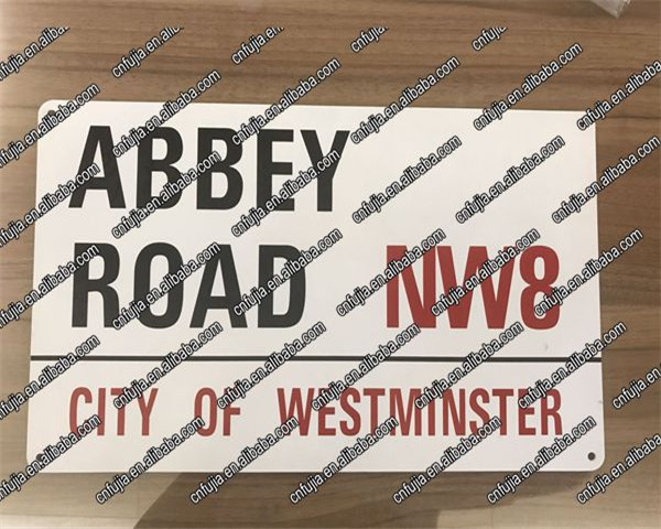3D road metal signs, EMBOSSED street sign, wholesale name metal tin plate sign