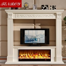 marble mantel 3d steam hign quality outdoor gas fireplace with CE certificate