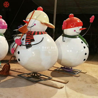 Excellent Christmas Large Resin Snowman Decorations