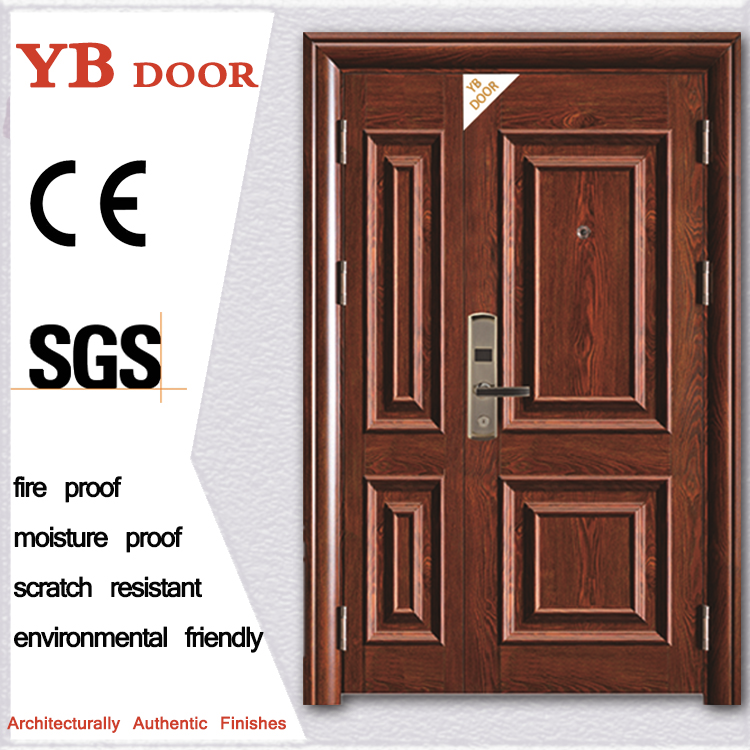 front attractive house steel security main iron door gate design with grill YBSD-A802-1