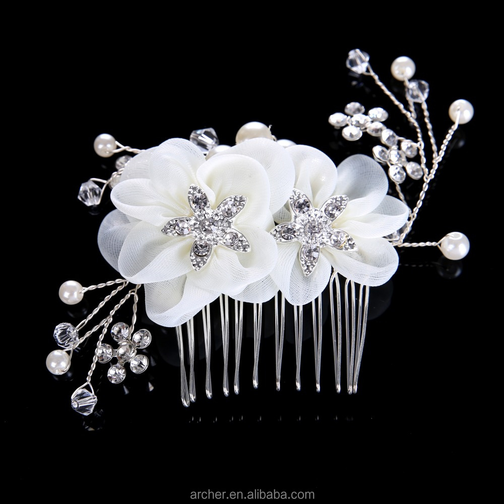 Wedding,Party Occasion and ribbon Main rhinestone fancy hair accessories for women HA-255