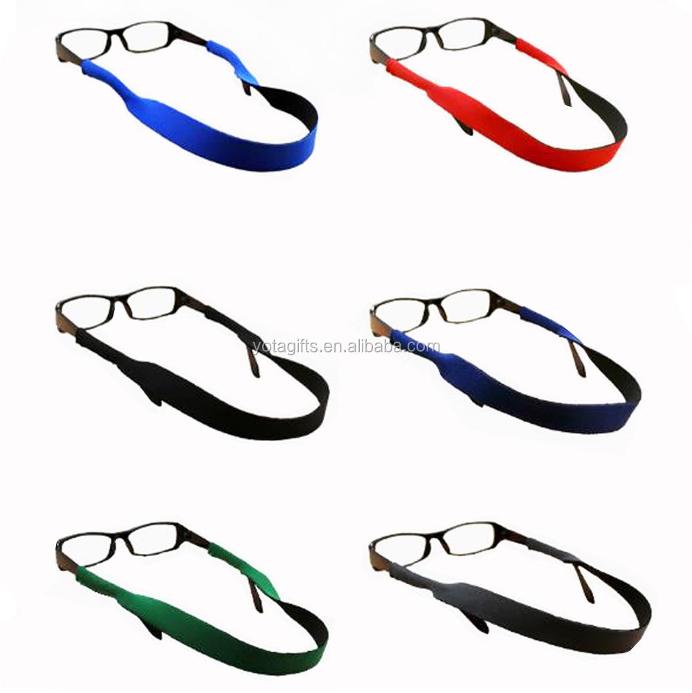 Top Selling High Quality Promotional Custom Logo Printed Neoprene Sunglass Straps Croakies
