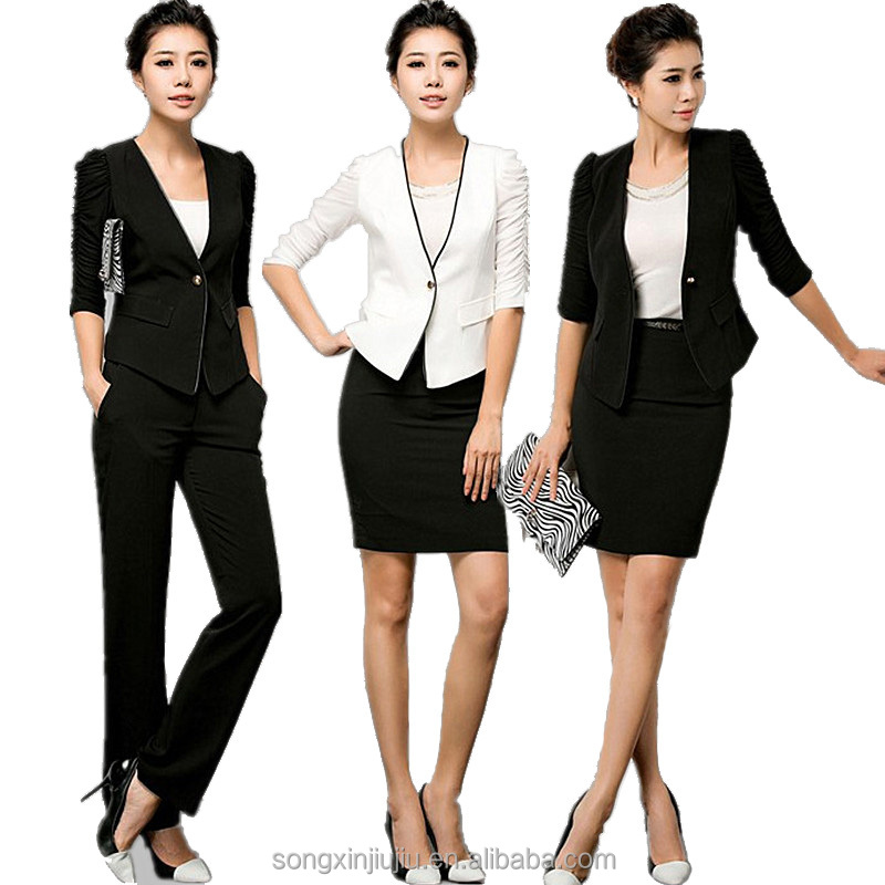 2015 new style ladies office uniform design women office for Office uniform design 2015