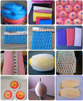 Free Samples FDA Approval Food Grade Custom Made EPE Foam Mesh Sleeve For Mango