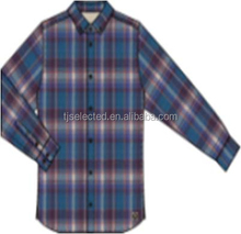 Stock of 100% cotton yarn dyed check flannel Mens casual shirts