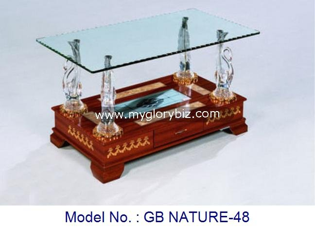 Unique Design Glass Top Coffee Tea Table For Living Room In Indian Style Home Furniture