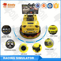 Interactive gaming 9d cinema car driving simulator with 3 screens simulator racing car game machine
