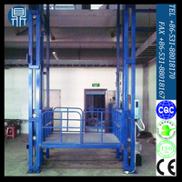 Hydraulic cargo lift/guide rail lift/goods delivery for warehouse