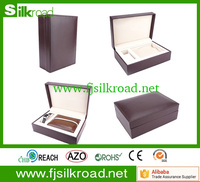 Custom cheap luxury pu leather wooden watch storage box for packaging case
