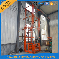 Outdoor Cargo Elevator Used For Warehouse Cargo Elevator
