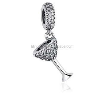High quality 925 Sterling silver wine charm