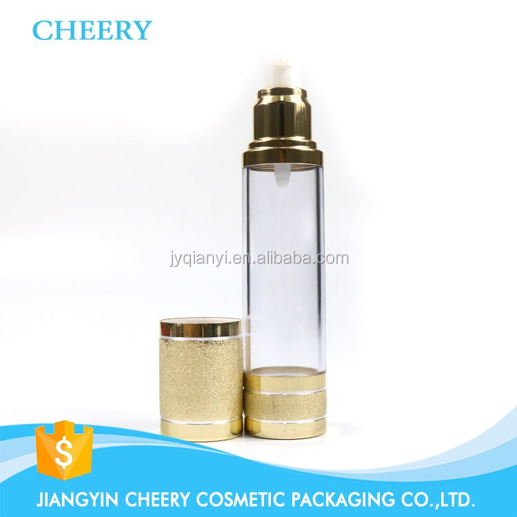 packaging 15ml 30ml 50ml airless bottle with pump dispenser