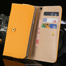 Litchi Leather Pouch For IPhone 5S 4S 5C 5 4 Flip Wallet For Samsung S5 S4 S3 Money Clip For Smartphone Cellphone RCD04078