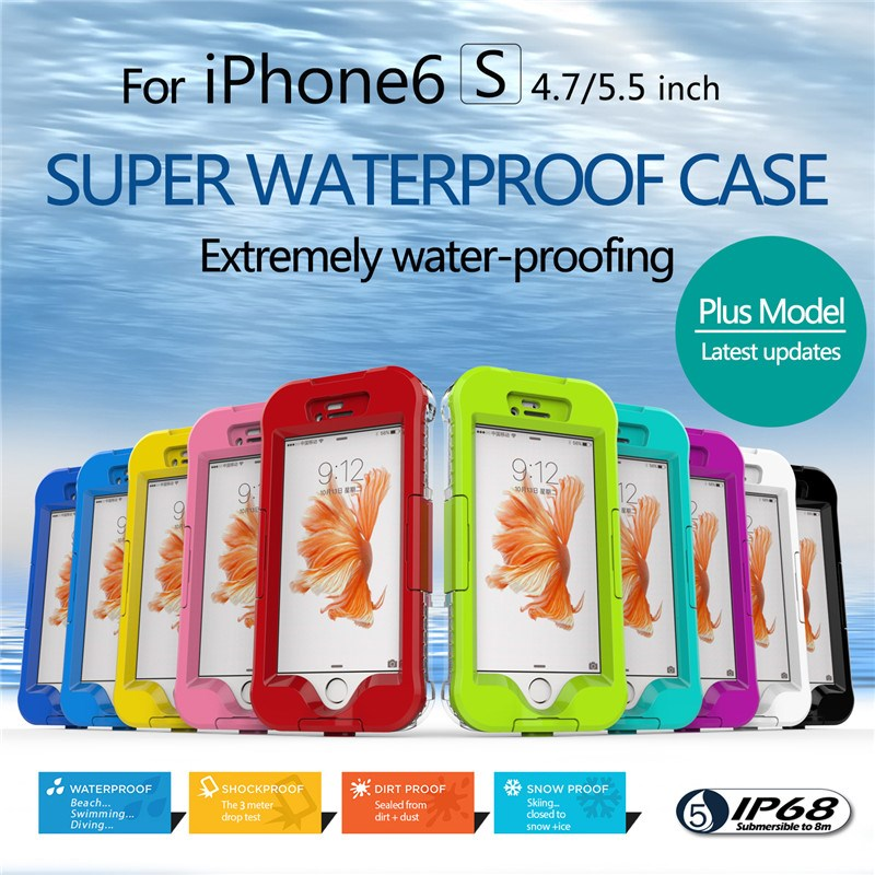 Waterproof Dirtproof Shockproof Snowproof Case PC+TPU Protective Cover For iPhone 6/6S