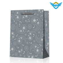 hot sale recycled paper bags with ribbon handle for wholesale