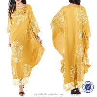 China Supplier Custom Wholesale New Design Arabic Kaftan Dubai Moroccan Kaftan Dress Print Dress