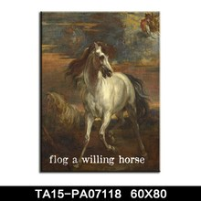 High quality new design handpainted modern abstract decorative horse canvas oil painting wholesale