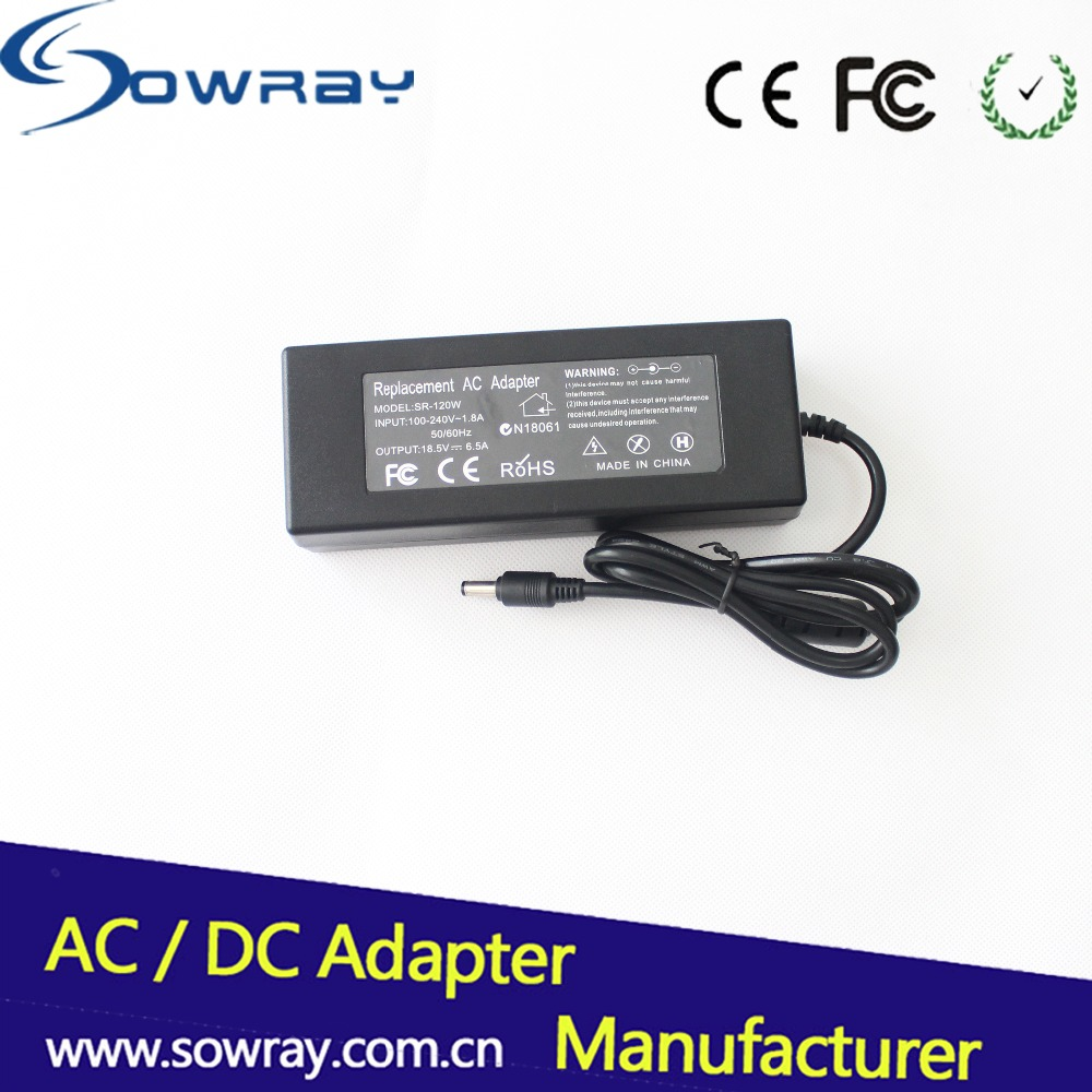 for HP 18.5V 6.5A 5.5*2.5 Laptop Adapter Laptop Charger AC Adapter Power Supply Adapter Original Brand new