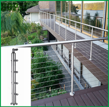 Stainless steel pipe railing and terrace balustrade for balustrade inox