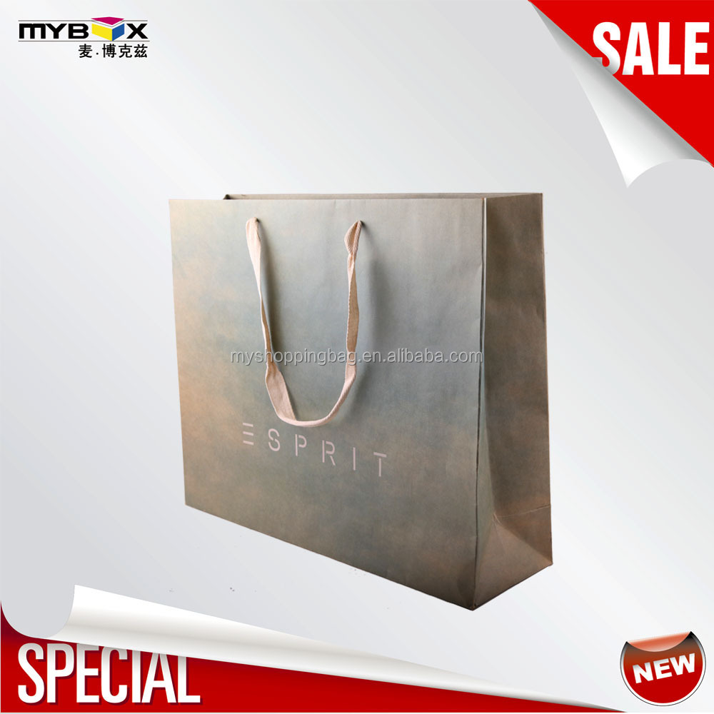 Eco friendly custom printed 25kg kraft paper bag