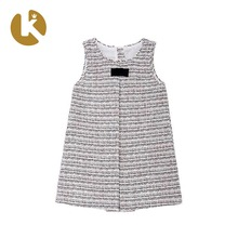 Flower Pattern Sleeveless Girls Summer Fashion Baby Dress