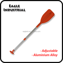 Light weight telescoping paddle for rowing boats