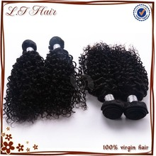 Human hair material natural color 5a grade virgin remy kinky hair weave