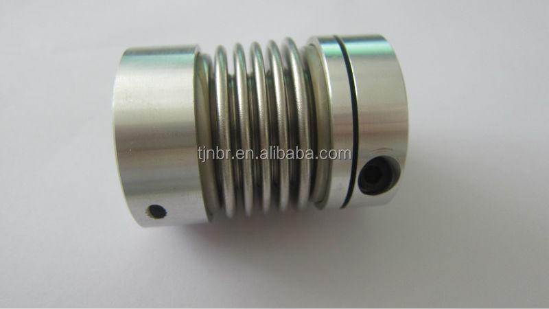 Flexible metal bellows coupling view