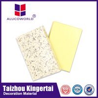Alucoworld all kinds of stone finished aluminum composite panel with different design