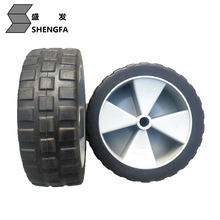 High quality 10 inch flat free wheels for beach cart