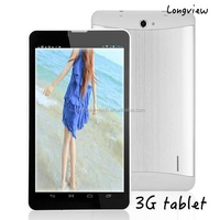 "7"" 3G phablet MTK CPU Android 7inch 3G phone call tablet wifi FM, GPS, bluetooth, 0.3M/2.0 camera MTK6572"