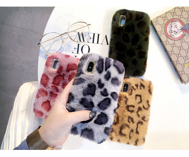 fluffy animal fur cute cell phone case for iPhone xr fur case winter warm