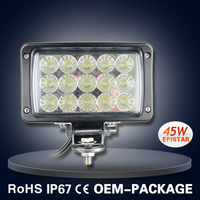 6'' RECTANGLE 45W LED WORK LIGHT OFFROAD WORK LAMP 4x4