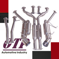 "DUAL 4.5"" BURNT TIP STAINLESS RACING CATBACK EXHAUST SYSTEM FOR 350Z Z33/G35 V35"