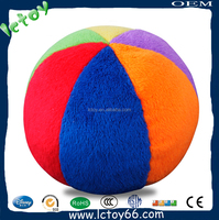 plush baby ball toy colorful design
